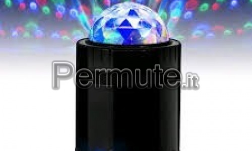 Mini Speaker Bluetooth batteria ricaricabile luci multicolor