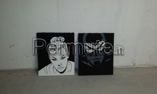 Quadri pop art Diabolik 50x60