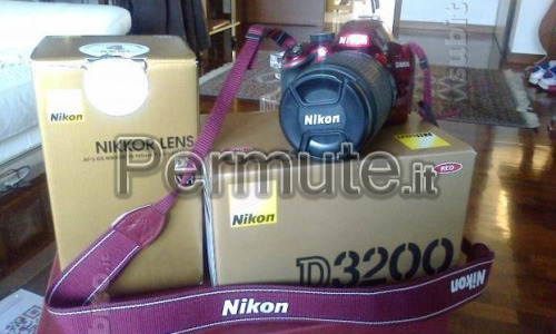 cedo nikon d3200 bodyred con zoom 18-105