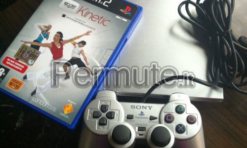 ORIGINALE PLAYSTATION 2 PS2 + EYE TOY KINETIC