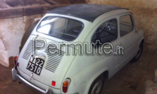 vendo fiat 600 decappottabile.