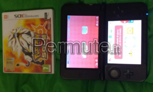 nintendo 3ds xl+pokemon sole