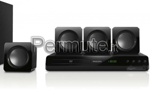 Sistema Home Theater Philips HTD3510 5+1 e DVD