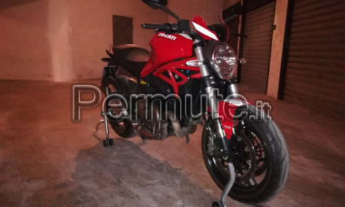 Ducati Monster 821 Stripe, Novembre 2016
