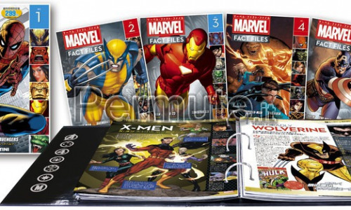 Marvel Fact Files Mondadori - 7 Volumi 150 Fascicoli