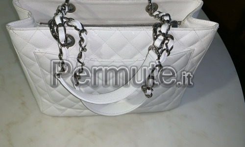 Splendido autentico CHANEL Grand White Caviar GST Shopper - 1100 EUR !!