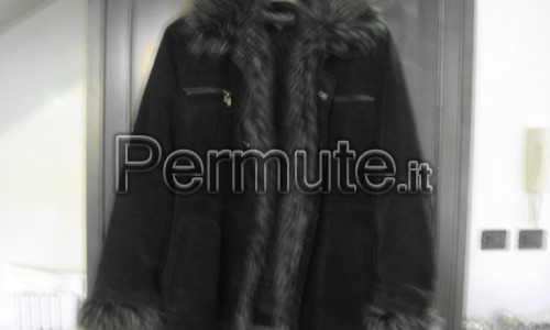 Cappotto donna tg xl in velluto a costine sottili color antracite taglia xl